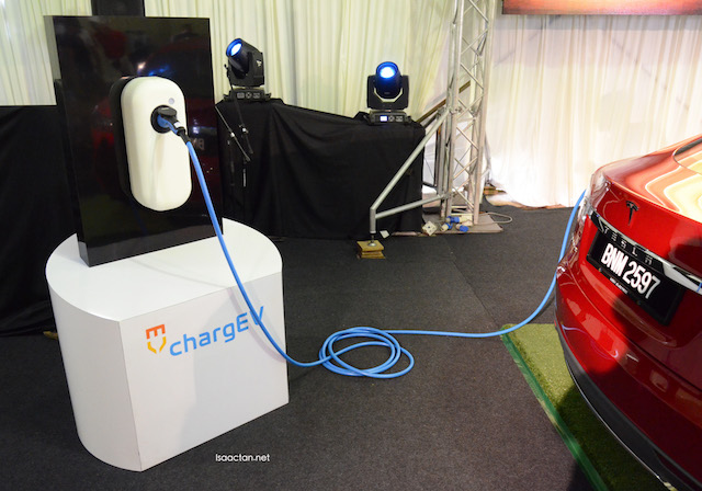ChargEV charger for the Tesla Model S