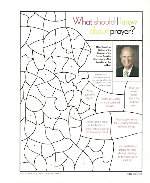 Praying Over Others Coloring Page