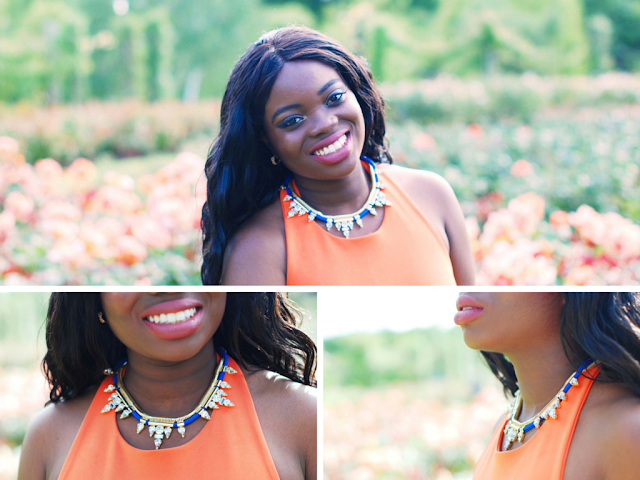 Firoelli blue cord statement necklace