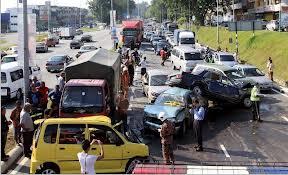 perlanggaran 50 buah kenderaan di switzerland