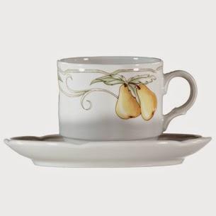 Theodora Home xícara de porcelana para chá coleção Les Fruits