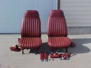 1976 Oldsmobile Cutlass Wine Red vinyl bucket seats