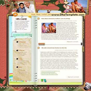Charmless Man blogger template. converted WordPress to Blogger template
