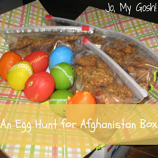 easter, easter egg, easter egg hunt, egg hunt, military, deployment, care package, box, decorations, cookies, quinoa, quinoa cookies, fiance, wedding