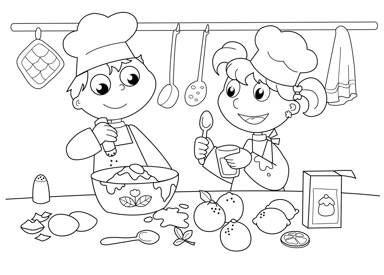 baked treats coloring pages - photo#27