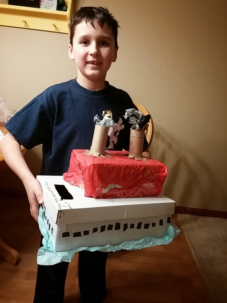 And Our Girl Chose To Make, A Toilet Valentine Box!