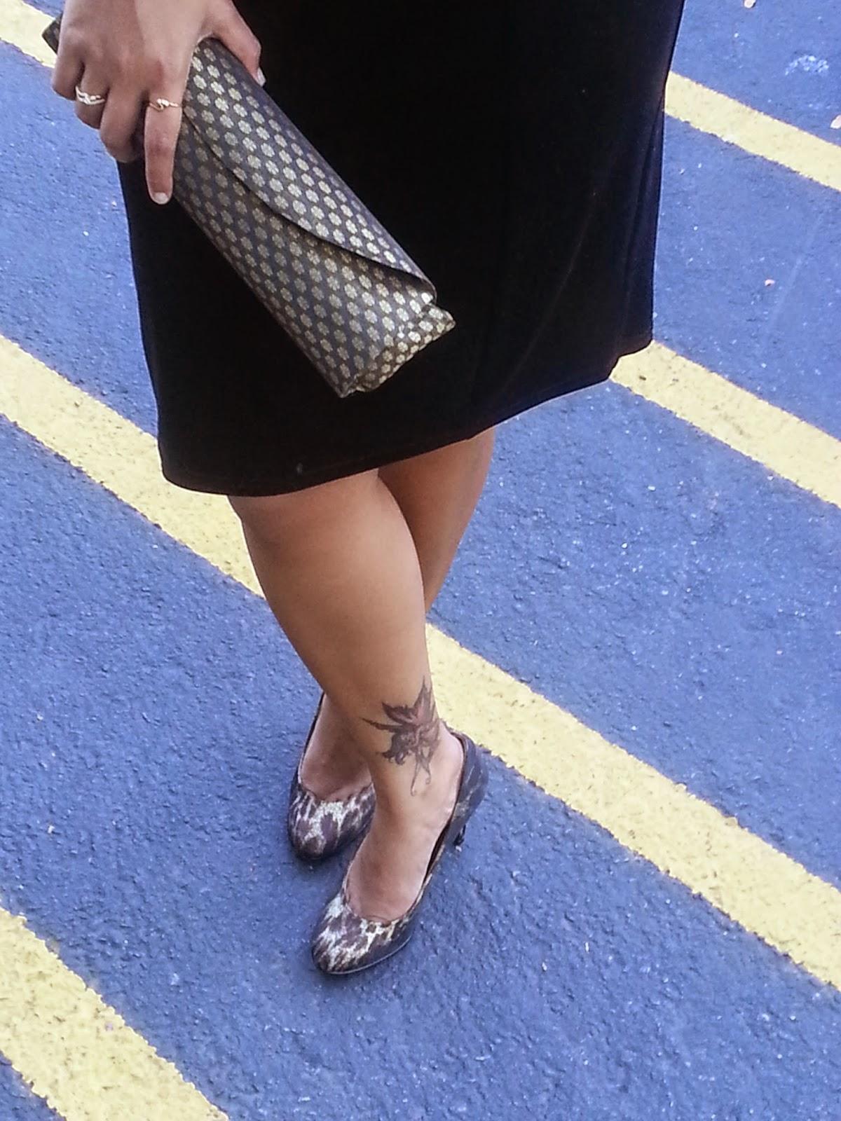 Black Velvet dress, classy black dress, lady like dress, beautiful tattoo on the leg, elegant dress for indian women, famous indian fashion blogger,