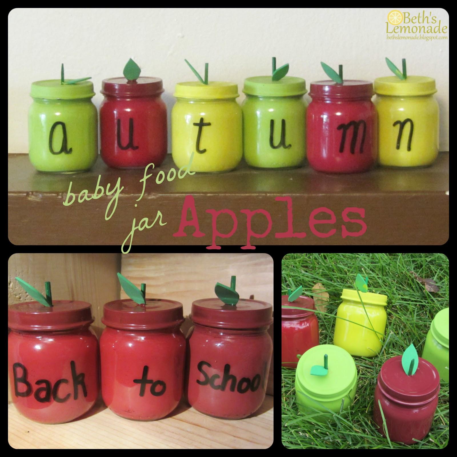 Baby food jars beth s lemonade baby food jar week apple for Baby food jar crafts pinterest