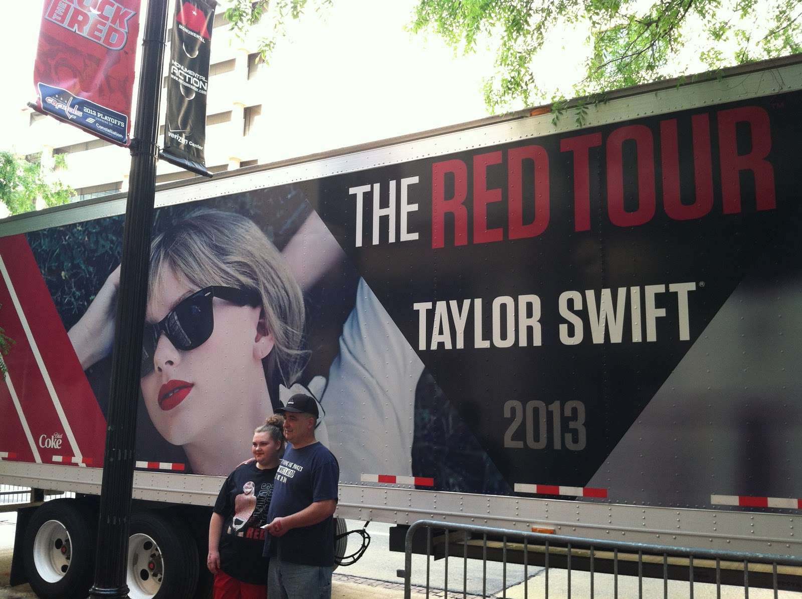 Taylor swift tour bus red