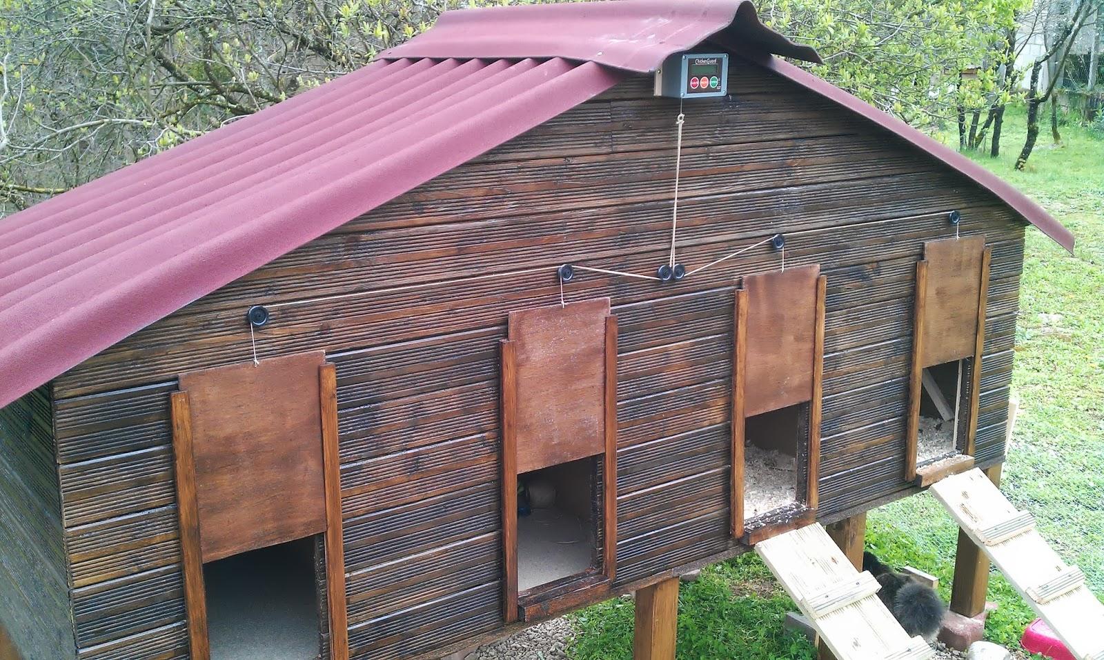 les poules des boubous nouveau poulailler 4 compartiments automatis s chickenguard. Black Bedroom Furniture Sets. Home Design Ideas