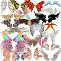 Asas coloridas para Photoshop grátis