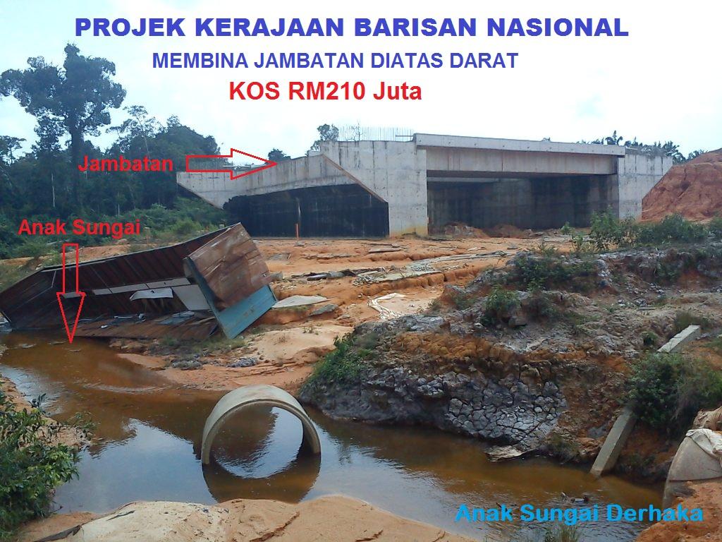 ... tapi Benar! Sungai dibina melalui Jambatan.. Hanya di Malaysia
