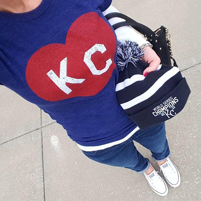 Bunker KC Shirt // 7 For All Mankind Josefina Boyfriend Jeans - on sale for $63, regular $178! // Kate Spade Pine Street Small Kori - on sale for $159, regular $398! // Converse Tennis Shoes // Anne Klein Link Bracelet (similar)