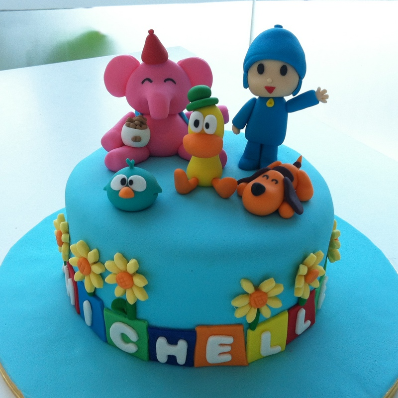 TeaRoom by Bel Jee: Pocoyo cake (smaller version)