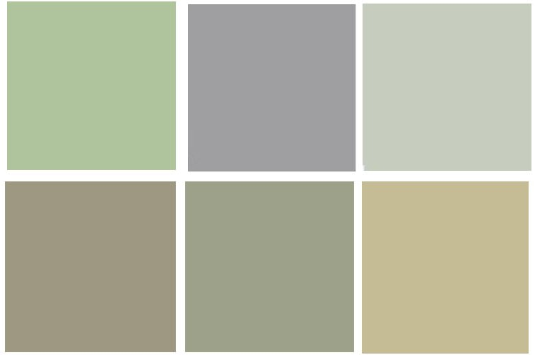 When I first started looking at paint samples, I came up with this mix ...