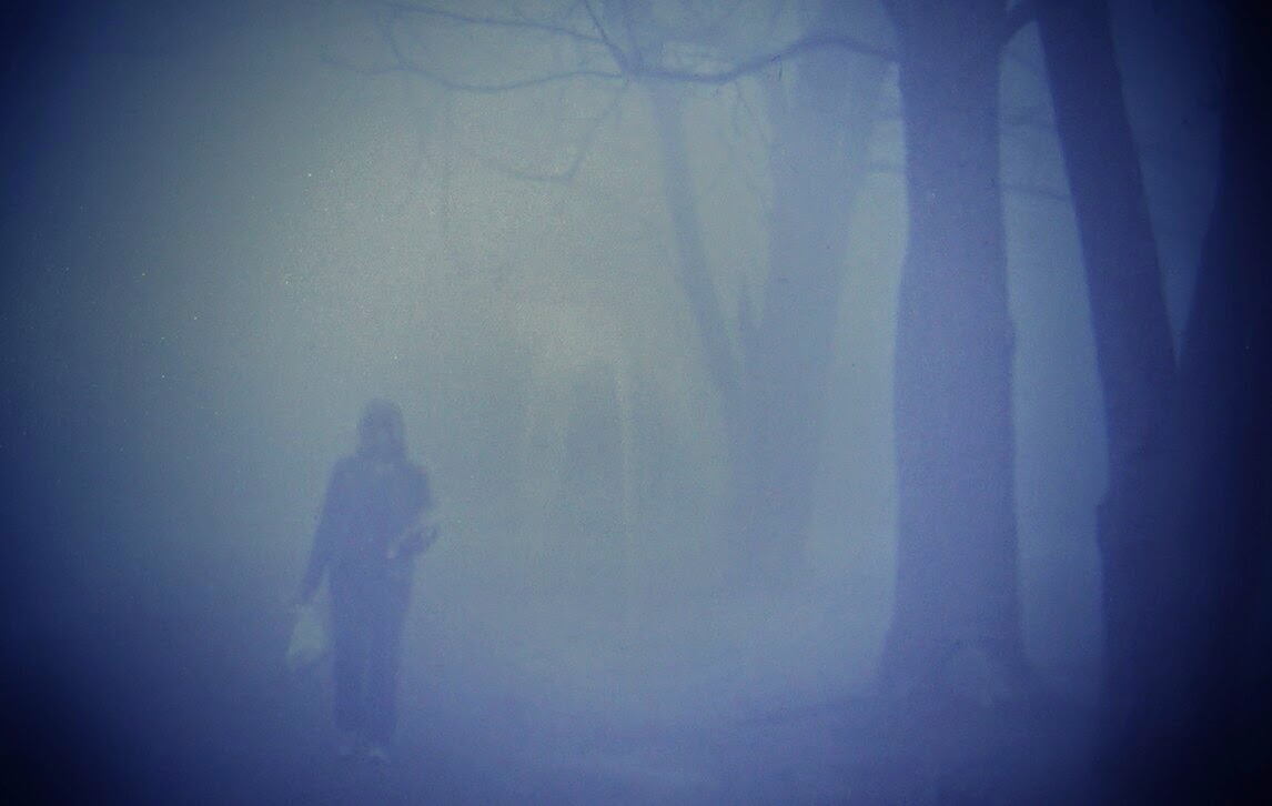 person in fog