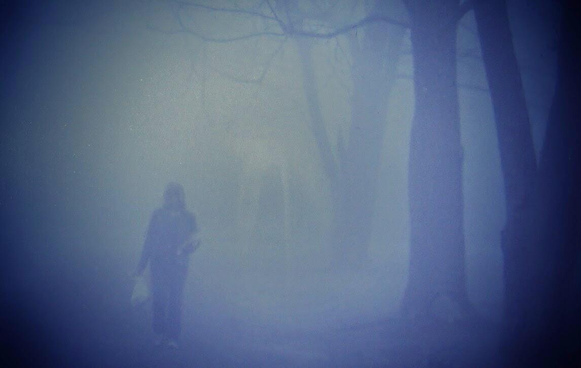 person in fog