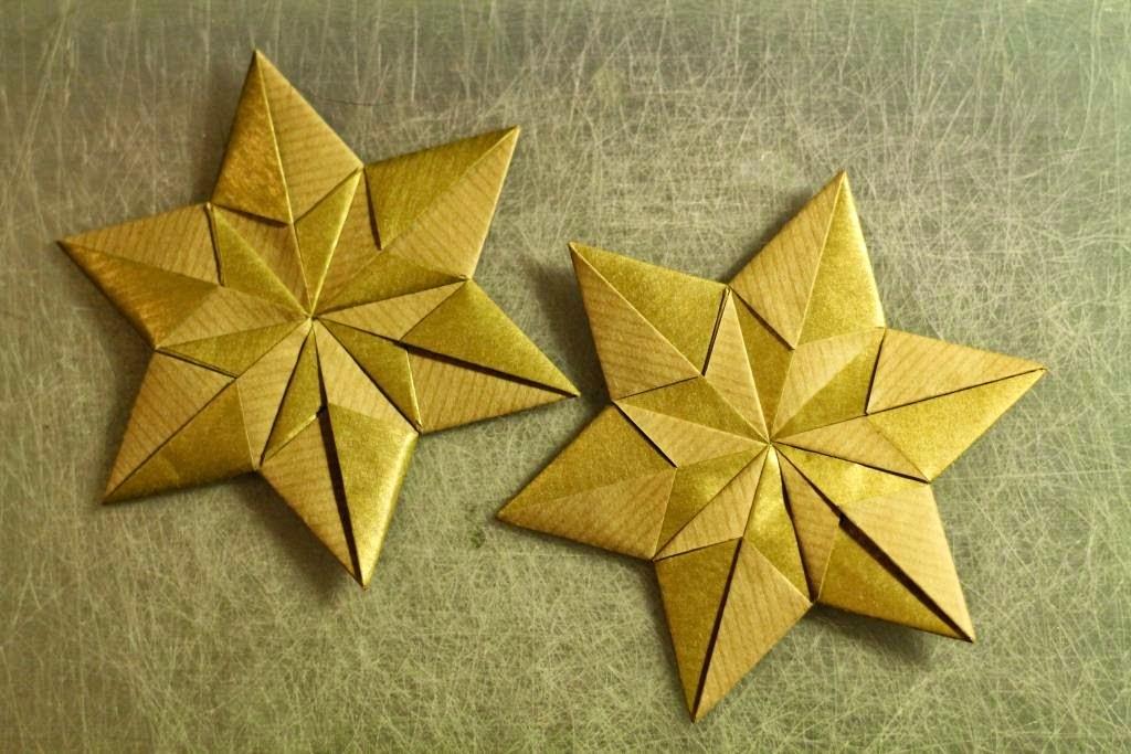 stjerne foldet i papir