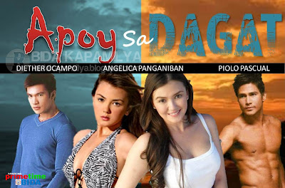 Apoy Sa Dagat - Diether Ocampo, Piolo Pascual and Angelica Panganiban, playing a dual role