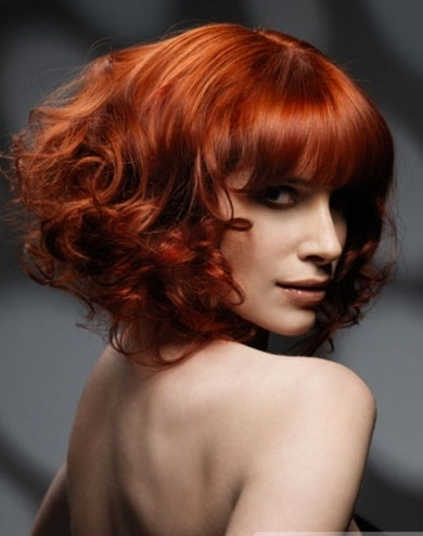 Red Curly Hair Style 2014