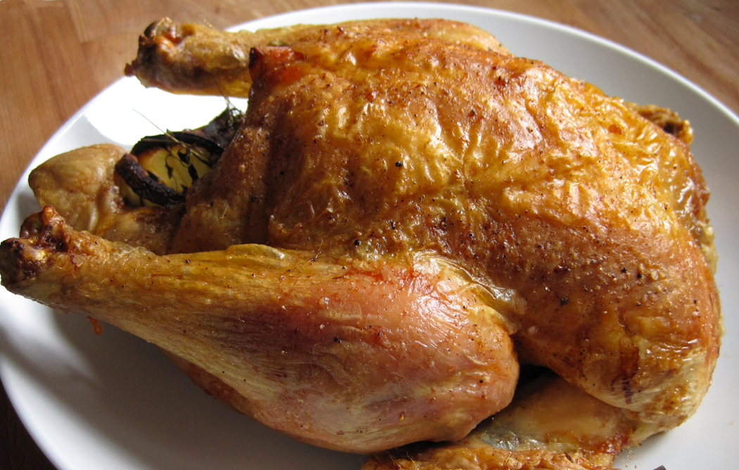 Glug of Oil : Perfect Roast Chicken with Nice Crispy Skin