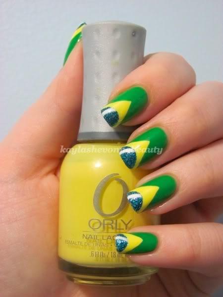 diseo de uas bandera de brasil