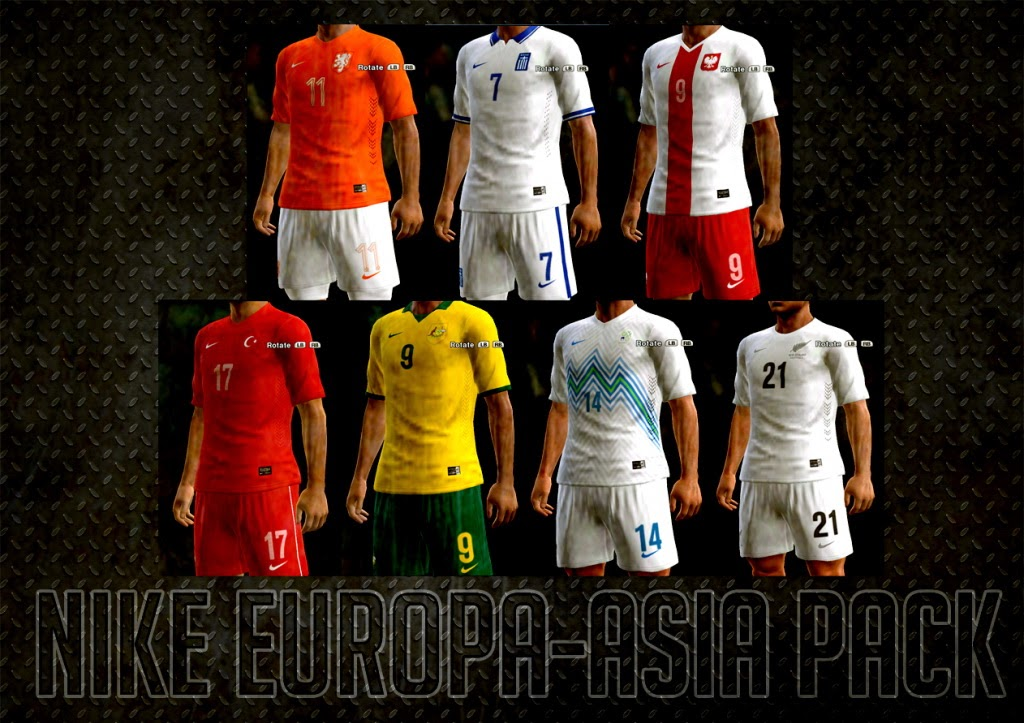 PES 2013 Nike Kits Europe-Asia Pack 2014 by AkmalRW