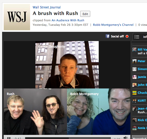 Rush video chat