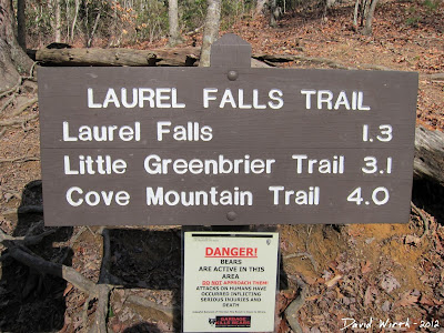 Smokey Mountain National Park, Laurel Falls Trail Sign