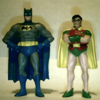 Front of Batman and Robin 1989 PVC figures by Applause