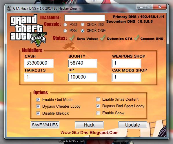 GTA 5 Hack DNS v 1.0