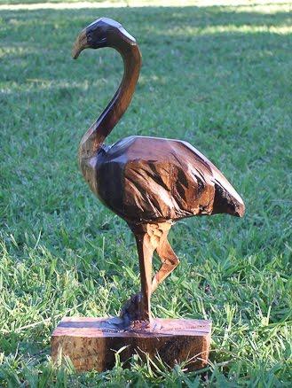 Ms. Flame, the oak flamingo