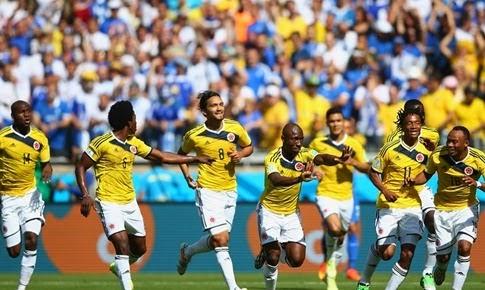Goles del partido COLOMBIA 3 vs 0 GRECIA