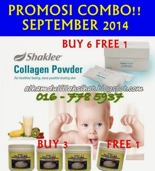Promosi Combo Shaklee September 2014 Mealshake dan Collagen Powder