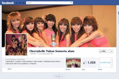 Akun Facebook Agama Cherry Belle
