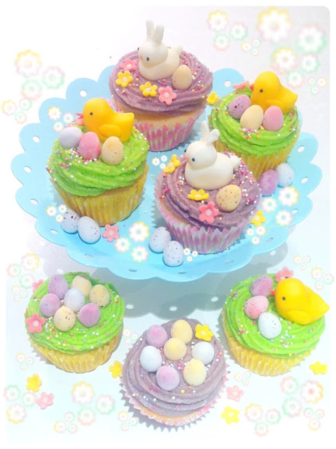 Cherie Kelly's Easter Bunny and Chicks Yuzu Citrus Cupcakes