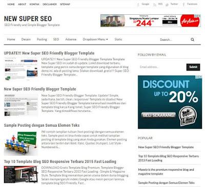 NEW Super SEO - Template Blog SEO Friendly Terbaru