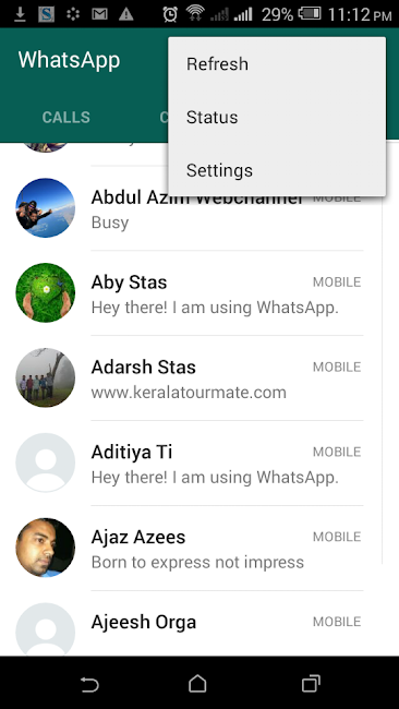 """Disable the """"Last Seen"""" timestamp in whatsApp"""