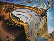 Recreación del cuadro de Dalí Relojes Blandos o La Perseverancia de la Memoria.