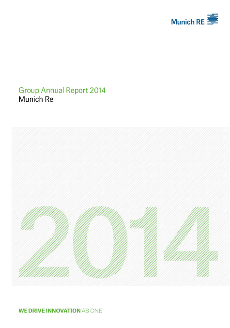 MüRe, annual report, 2014, front page