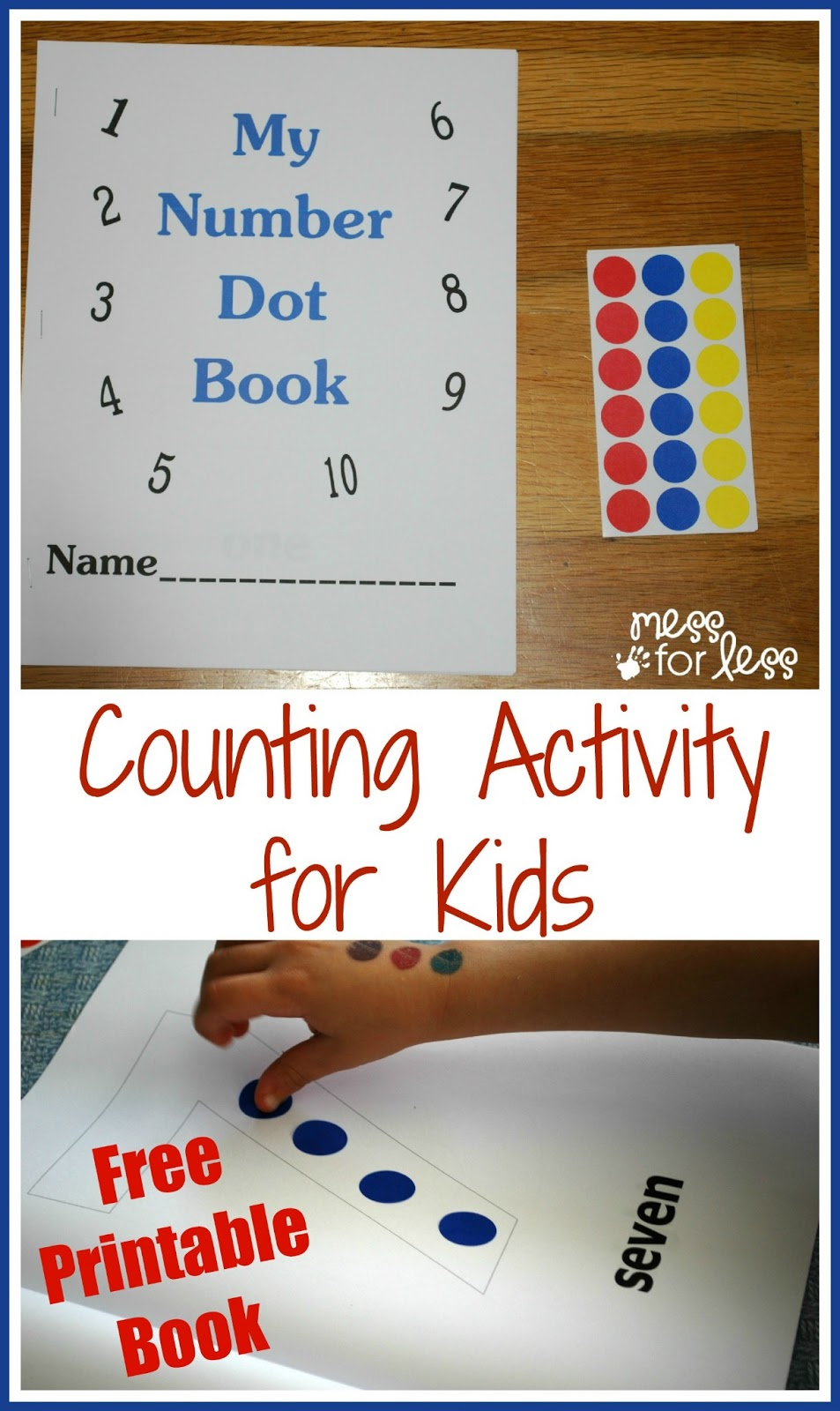 preschool number book free math printables number book mess for less 179