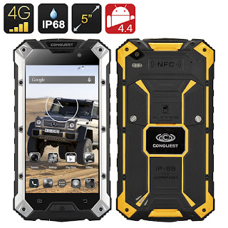 Alternativa al Cat B15: Review del Conquest S6 Plus Rugged Smartphone un celular resistente IP68 Quad Core y NFC