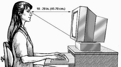Posisi Yang Benar Pada Saat Menggunakan Komputer