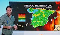 riesgo incendios forestales en pleno mes de diciembre en el norte de España por altas temperaturas