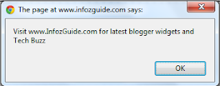 Show a Pop Up Message In Blogger Blog