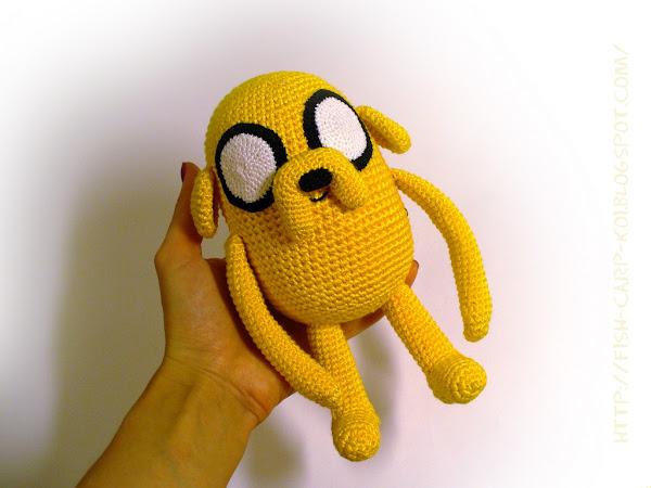 Jake the Dog - Adventure time! - персонаж мультфильма связанный крючком - ручная работа