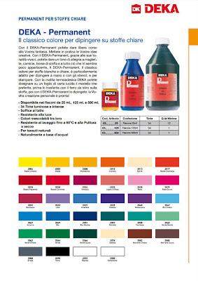 DEKA - Permanent, colori per stoffa, colori coprenti