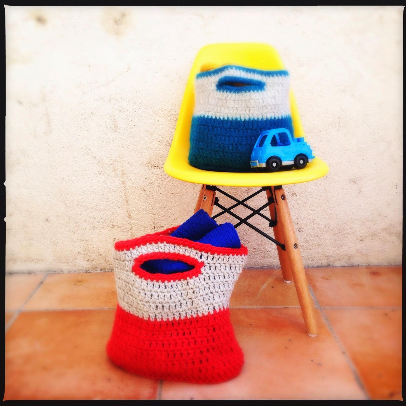 petits sacs au crochet fil K Filature du Valgaudemar