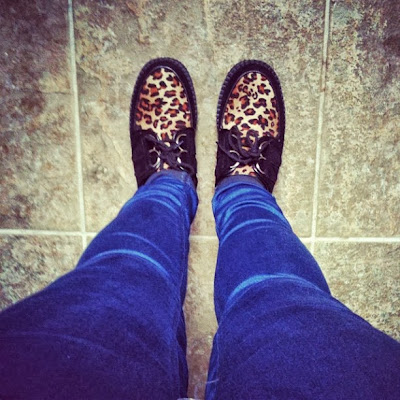 Leopard print creepers