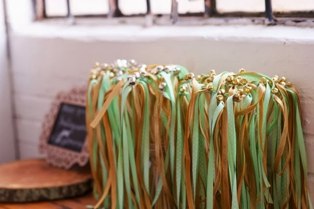 wedding diy ribbon wands